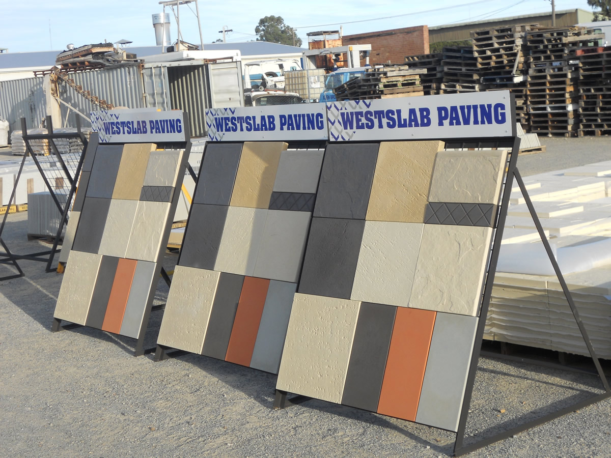 concrete pavers sand blue metal gravel west slab paving perth wa